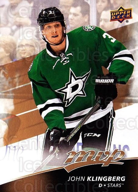 2017-18 Upper Deck MVP #133 John Klingberg<br/>6 In Stock - $1.00 each - <a href=https://centericecollectibles.foxycart.com/cart?name=2017-18%20Upper%20Deck%20MVP%20%23133%20John%20Klingberg...&quantity_max=6&price=$1.00&code=735135 class=foxycart> Buy it now! </a>