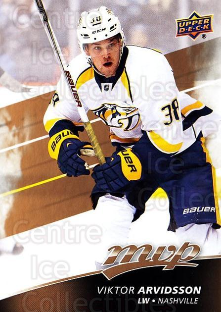 2017-18 Upper Deck MVP #152 Viktor Arvidsson<br/>6 In Stock - $1.00 each - <a href=https://centericecollectibles.foxycart.com/cart?name=2017-18%20Upper%20Deck%20MVP%20%23152%20Viktor%20Arvidsso...&quantity_max=6&price=$1.00&code=735154 class=foxycart> Buy it now! </a>