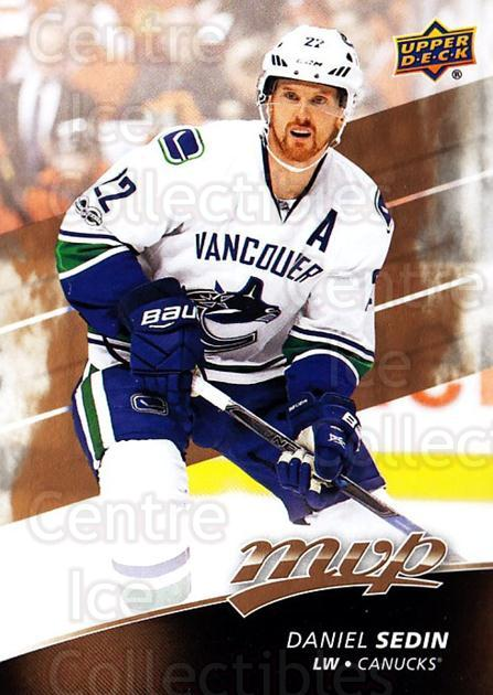 2017-18 Upper Deck MVP #156 Daniel Sedin<br/>6 In Stock - $1.00 each - <a href=https://centericecollectibles.foxycart.com/cart?name=2017-18%20Upper%20Deck%20MVP%20%23156%20Daniel%20Sedin...&quantity_max=6&price=$1.00&code=735158 class=foxycart> Buy it now! </a>