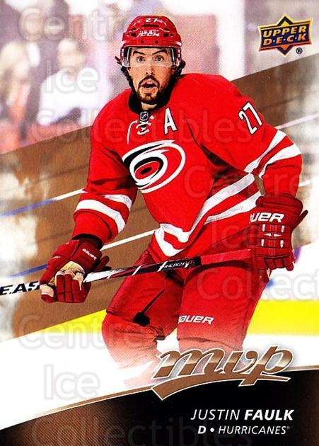 2017-18 Upper Deck MVP #165 Justin Faulk<br/>6 In Stock - $1.00 each - <a href=https://centericecollectibles.foxycart.com/cart?name=2017-18%20Upper%20Deck%20MVP%20%23165%20Justin%20Faulk...&quantity_max=6&price=$1.00&code=735167 class=foxycart> Buy it now! </a>