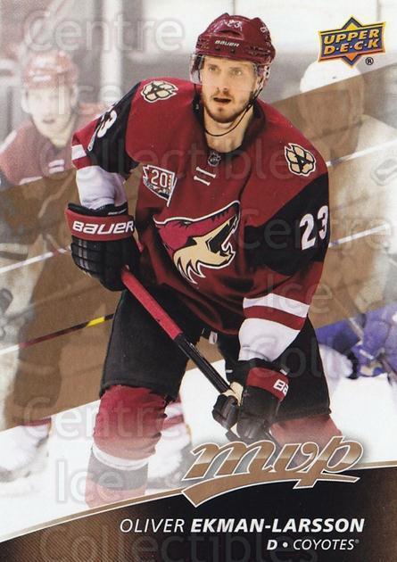 2017-18 Upper Deck MVP #214 Oliver Ekman-Larsson<br/>1 In Stock - $3.00 each - <a href=https://centericecollectibles.foxycart.com/cart?name=2017-18%20Upper%20Deck%20MVP%20%23214%20Oliver%20Ekman-La...&quantity_max=1&price=$3.00&code=735216 class=foxycart> Buy it now! </a>