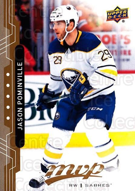 2018-19 Upper Deck MVP #182 Jason Pominville<br/>6 In Stock - $1.00 each - <a href=https://centericecollectibles.foxycart.com/cart?name=2018-19%20Upper%20Deck%20MVP%20%23182%20Jason%20Pominvill...&quantity_max=6&price=$1.00&code=735434 class=foxycart> Buy it now! </a>