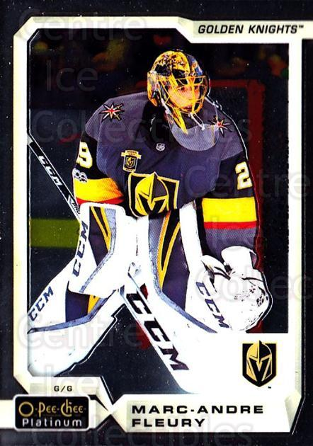 2018-19 O-Pee-Chee Platinum #120 Marc-Andre Fleury<br/>3 In Stock - $2.00 each - <a href=https://centericecollectibles.foxycart.com/cart?name=2018-19%20O-Pee-Chee%20Platinum%20%23120%20Marc-Andre%20Fleu...&quantity_max=3&price=$2.00&code=735622 class=foxycart> Buy it now! </a>