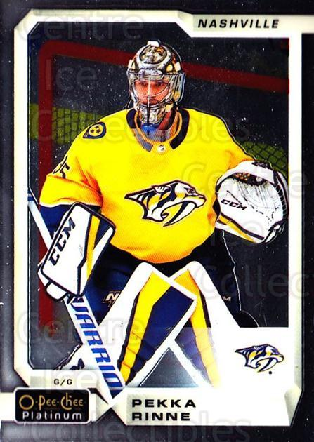 2018-19 O-Pee-Chee Platinum #135 Pekka Rinne<br/>9 In Stock - $1.00 each - <a href=https://centericecollectibles.foxycart.com/cart?name=2018-19%20O-Pee-Chee%20Platinum%20%23135%20Pekka%20Rinne...&quantity_max=9&price=$1.00&code=735637 class=foxycart> Buy it now! </a>