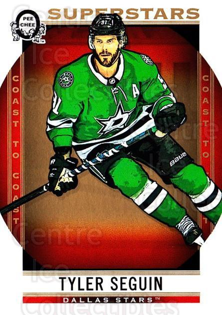 2018-19 O-Pee-Chee Coast to Coast #106 Tyler Seguin<br/>7 In Stock - $2.00 each - <a href=https://centericecollectibles.foxycart.com/cart?name=2018-19%20O-Pee-Chee%20Coast%20to%20Coast%20%23106%20Tyler%20Seguin...&quantity_max=7&price=$2.00&code=735808 class=foxycart> Buy it now! </a>