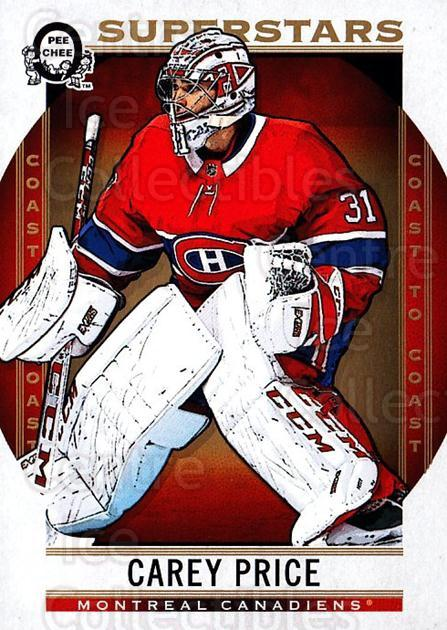 2018-19 O-Pee-Chee Coast to Coast #110 Carey Price<br/>6 In Stock - $5.00 each - <a href=https://centericecollectibles.foxycart.com/cart?name=2018-19%20O-Pee-Chee%20Coast%20to%20Coast%20%23110%20Carey%20Price...&quantity_max=6&price=$5.00&code=735812 class=foxycart> Buy it now! </a>