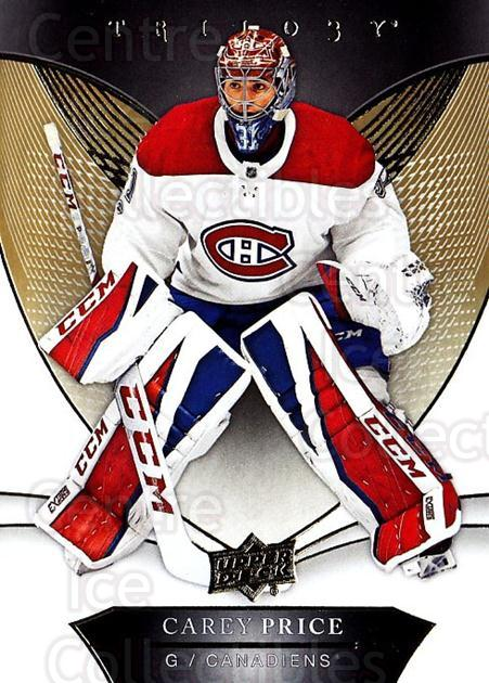 2018-19 UD Trilogy #29 Carey Price<br/>2 In Stock - $3.00 each - <a href=https://centericecollectibles.foxycart.com/cart?name=2018-19%20UD%20Trilogy%20%2329%20Carey%20Price...&quantity_max=2&price=$3.00&code=735941 class=foxycart> Buy it now! </a>