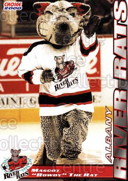 1999-00 Albany River Rats #24 Mascot<br/>5 In Stock - $3.00 each - <a href=https://centericecollectibles.foxycart.com/cart?name=1999-00%20Albany%20River%20Rats%20%2324%20Mascot...&quantity_max=5&price=$3.00&code=73599 class=foxycart> Buy it now! </a>