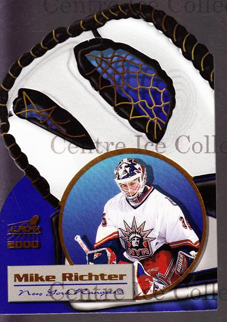 1999-00 Aurora Glove Unlimited #13 Mike Richter<br/>3 In Stock - $3.00 each - <a href=https://centericecollectibles.foxycart.com/cart?name=1999-00%20Aurora%20Glove%20Unlimited%20%2313%20Mike%20Richter...&quantity_max=3&price=$3.00&code=73624 class=foxycart> Buy it now! </a>