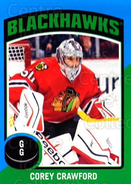 2014-15 O-Pee-Chee Stickers #6 Corey Crawford<br/>1 In Stock - $2.00 each - <a href=https://centericecollectibles.foxycart.com/cart?name=2014-15%20O-Pee-Chee%20Stickers%20%236%20Corey%20Crawford...&quantity_max=1&price=$2.00&code=736560 class=foxycart> Buy it now! </a>