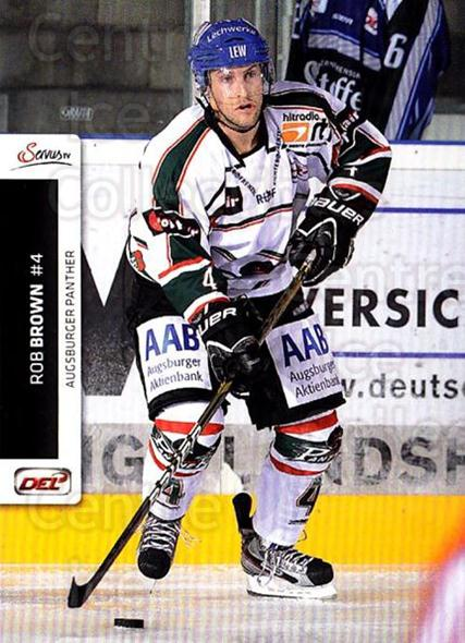 2012-13 German DEL #5 Rob Brown<br/>2 In Stock - $2.00 each - <a href=https://centericecollectibles.foxycart.com/cart?name=2012-13%20German%20DEL%20%235%20Rob%20Brown...&quantity_max=2&price=$2.00&code=736709 class=foxycart> Buy it now! </a>