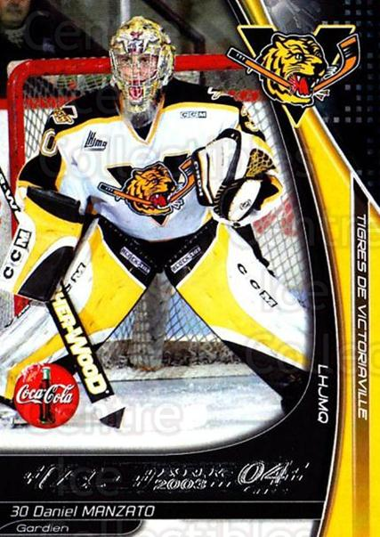 2003-04 Victoriaville Tigres #18 Daniel Manzato<br/>1 In Stock - $3.00 each - <a href=https://centericecollectibles.foxycart.com/cart?name=2003-04%20Victoriaville%20Tigres%20%2318%20Daniel%20Manzato...&quantity_max=1&price=$3.00&code=738408 class=foxycart> Buy it now! </a>