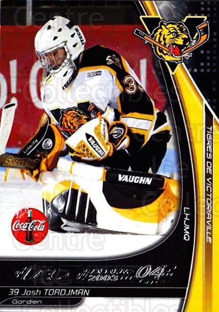2003-04 Victoriaville Tigres #26 Josh Tordjman<br/>1 In Stock - $3.00 each - <a href=https://centericecollectibles.foxycart.com/cart?name=2003-04%20Victoriaville%20Tigres%20%2326%20Josh%20Tordjman...&quantity_max=1&price=$3.00&code=738411 class=foxycart> Buy it now! </a>