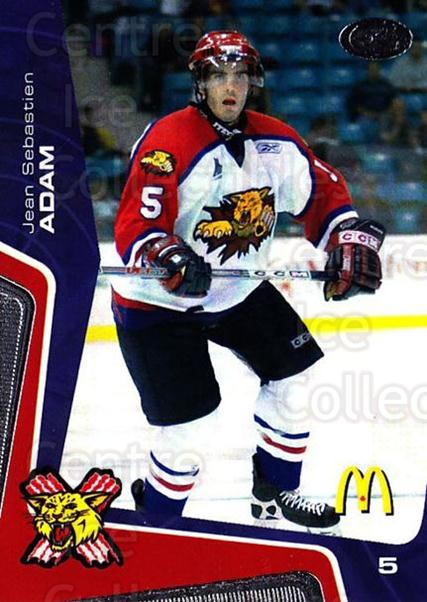 2005-06 Moncton Wildcats #15 Jean-Sebastien Adam<br/>1 In Stock - $3.00 each - <a href=https://centericecollectibles.foxycart.com/cart?name=2005-06%20Moncton%20Wildcats%20%2315%20Jean-Sebastien%20...&quantity_max=1&price=$3.00&code=738594 class=foxycart> Buy it now! </a>