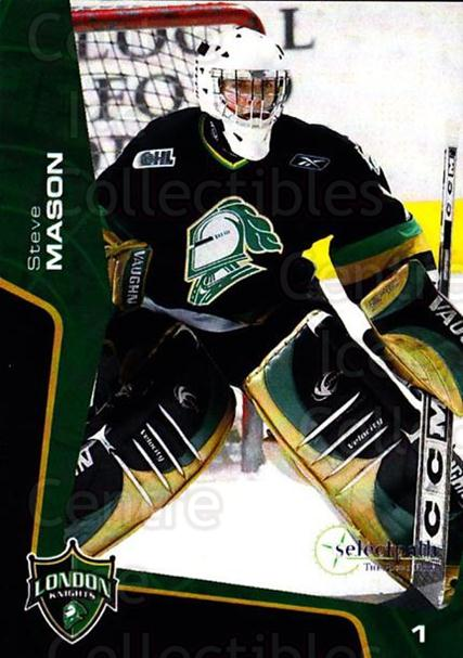 2005-06 London Knights #21 Steve Mason<br/>1 In Stock - $3.00 each - <a href=https://centericecollectibles.foxycart.com/cart?name=2005-06%20London%20Knights%20%2321%20Steve%20Mason...&quantity_max=1&price=$3.00&code=738682 class=foxycart> Buy it now! </a>