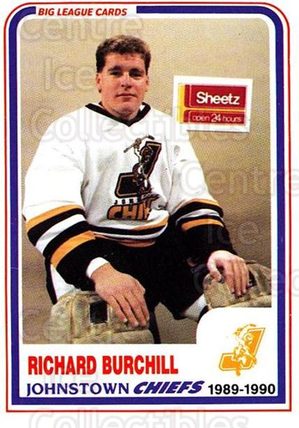 1989-90 Johnstown Chiefs #19 Rick Burchill<br/>1 In Stock - $3.00 each - <a href=https://centericecollectibles.foxycart.com/cart?name=1989-90%20Johnstown%20Chiefs%20%2319%20Rick%20Burchill...&quantity_max=1&price=$3.00&code=738770 class=foxycart> Buy it now! </a>