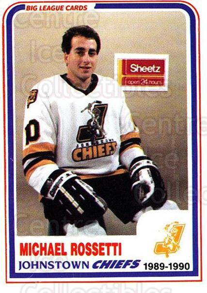 1989-90 Johnstown Chiefs #25 Mike Rossetti<br/>1 In Stock - $3.00 each - <a href=https://centericecollectibles.foxycart.com/cart?name=1989-90%20Johnstown%20Chiefs%20%2325%20Mike%20Rossetti...&quantity_max=1&price=$3.00&code=738776 class=foxycart> Buy it now! </a>