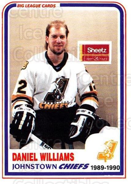 1989-90 Johnstown Chiefs #26 Dan Williams<br/>1 In Stock - $3.00 each - <a href=https://centericecollectibles.foxycart.com/cart?name=1989-90%20Johnstown%20Chiefs%20%2326%20Dan%20Williams...&quantity_max=1&price=$3.00&code=738777 class=foxycart> Buy it now! </a>
