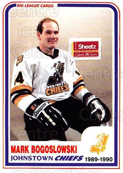 1989-90 Johnstown Chiefs #27 Mark Bogoslowski<br/>1 In Stock - $3.00 each - <a href=https://centericecollectibles.foxycart.com/cart?name=1989-90%20Johnstown%20Chiefs%20%2327%20Mark%20Bogoslowsk...&quantity_max=1&price=$3.00&code=738778 class=foxycart> Buy it now! </a>