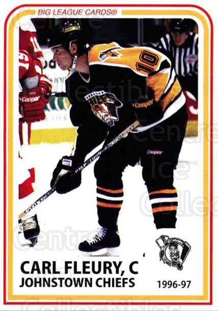1996-97 Johnstown Chiefs #6 Carl Fleury<br/>1 In Stock - $3.00 each - <a href=https://centericecollectibles.foxycart.com/cart?name=1996-97%20Johnstown%20Chiefs%20%236%20Carl%20Fleury...&quantity_max=1&price=$3.00&code=739045 class=foxycart> Buy it now! </a>