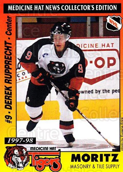 1997-98 Medicine Hat Tigers #14 Derek Rupprecht<br/>1 In Stock - $3.00 each - <a href=https://centericecollectibles.foxycart.com/cart?name=1997-98%20Medicine%20Hat%20Tigers%20%2314%20Derek%20Rupprecht...&quantity_max=1&price=$3.00&code=739209 class=foxycart> Buy it now! </a>