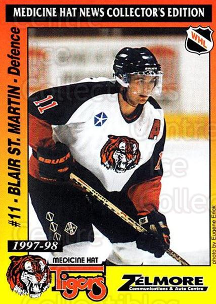 1997-98 Medicine Hat Tigers #19 Blair St. Martin<br/>1 In Stock - $3.00 each - <a href=https://centericecollectibles.foxycart.com/cart?name=1997-98%20Medicine%20Hat%20Tigers%20%2319%20Blair%20St.%20Marti...&quantity_max=1&price=$3.00&code=739214 class=foxycart> Buy it now! </a>