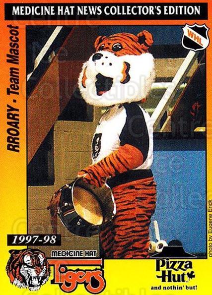 1997-98 Medicine Hat Tigers #25 Mascot<br/>1 In Stock - $3.00 each - <a href=https://centericecollectibles.foxycart.com/cart?name=1997-98%20Medicine%20Hat%20Tigers%20%2325%20Mascot...&quantity_max=1&price=$3.00&code=739220 class=foxycart> Buy it now! </a>