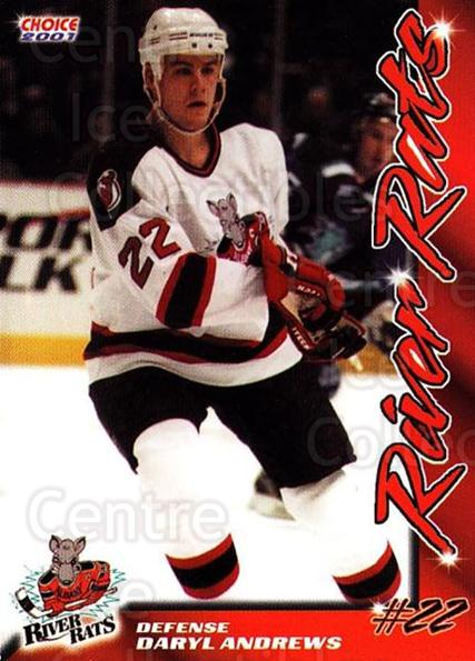 2000-01 Albany River Rats #1 Daryl Andrews<br/>1 In Stock - $3.00 each - <a href=https://centericecollectibles.foxycart.com/cart?name=2000-01%20Albany%20River%20Rats%20%231%20Daryl%20Andrews...&quantity_max=1&price=$3.00&code=739678 class=foxycart> Buy it now! </a>