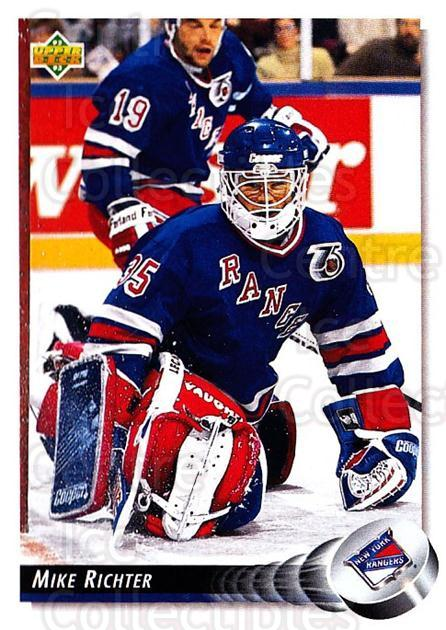 1992-93 Upper Deck #145 Mike Richter<br/>5 In Stock - $1.00 each - <a href=https://centericecollectibles.foxycart.com/cart?name=1992-93%20Upper%20Deck%20%23145%20Mike%20Richter...&quantity_max=5&price=$1.00&code=7396 class=foxycart> Buy it now! </a>