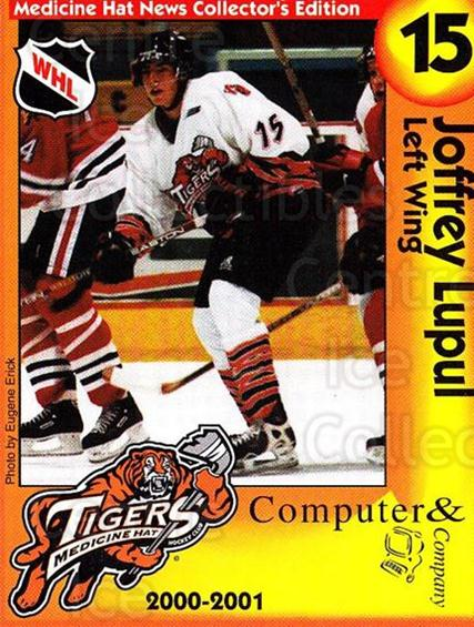 2000-01 Medicine Hat Tigers #9 Joffrey Lupul<br/>2 In Stock - $5.00 each - <a href=https://centericecollectibles.foxycart.com/cart?name=2000-01%20Medicine%20Hat%20Tigers%20%239%20Joffrey%20Lupul...&quantity_max=2&price=$5.00&code=739713 class=foxycart> Buy it now! </a>