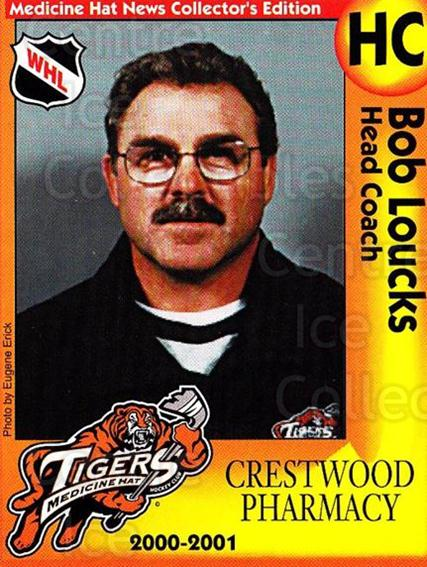 2000-01 Medicine Hat Tigers #23 Bob Loucks<br/>2 In Stock - $3.00 each - <a href=https://centericecollectibles.foxycart.com/cart?name=2000-01%20Medicine%20Hat%20Tigers%20%2323%20Bob%20Loucks...&quantity_max=2&price=$3.00&code=739727 class=foxycart> Buy it now! </a>