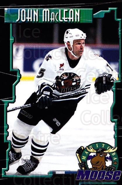 2000-01 Manitoba Moose #16 John MacLean<br/>1 In Stock - $3.00 each - <a href=https://centericecollectibles.foxycart.com/cart?name=2000-01%20Manitoba%20Moose%20%2316%20John%20MacLean...&quantity_max=1&price=$3.00&code=739745 class=foxycart> Buy it now! </a>