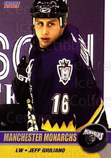 2002-03 Manchester Monarchs #B06 Jeff Giuliano<br/>1 In Stock - $3.00 each - <a href=https://centericecollectibles.foxycart.com/cart?name=2002-03%20Manchester%20Monarchs%20%23B06%20Jeff%20Giuliano...&quantity_max=1&price=$3.00&code=740553 class=foxycart> Buy it now! </a>