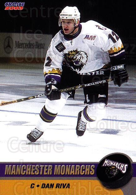 2002-03 Manchester Monarchs #B10 Dan Riva<br/>1 In Stock - $3.00 each - <a href=https://centericecollectibles.foxycart.com/cart?name=2002-03%20Manchester%20Monarchs%20%23B10%20Dan%20Riva...&quantity_max=1&price=$3.00&code=740557 class=foxycart> Buy it now! </a>