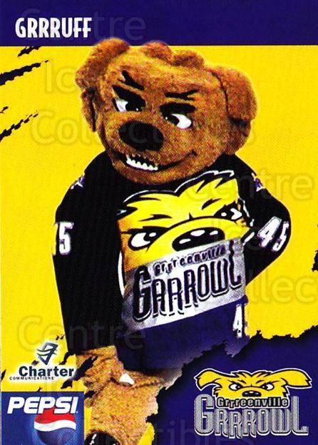 2002-03 Greenville Grrrowl #10 Mascot<br/>1 In Stock - $3.00 each - <a href=https://centericecollectibles.foxycart.com/cart?name=2002-03%20Greenville%20Grrrowl%20%2310%20Mascot...&quantity_max=1&price=$3.00&code=740678 class=foxycart> Buy it now! </a>