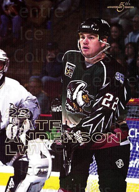 2002-03 Bakersfield Condors #1 Nate Anderson<br/>1 In Stock - $3.00 each - <a href=https://centericecollectibles.foxycart.com/cart?name=2002-03%20Bakersfield%20Condors%20%231%20Nate%20Anderson...&quantity_max=1&price=$3.00&code=740999 class=foxycart> Buy it now! </a>
