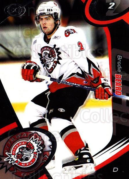 2004-05 Ottawa 67's #4 Brodie Beard<br/>2 In Stock - $3.00 each - <a href=https://centericecollectibles.foxycart.com/cart?name=2004-05%20Ottawa%2067's%20%234%20Brodie%20Beard...&quantity_max=2&price=$3.00&code=741148 class=foxycart> Buy it now! </a>