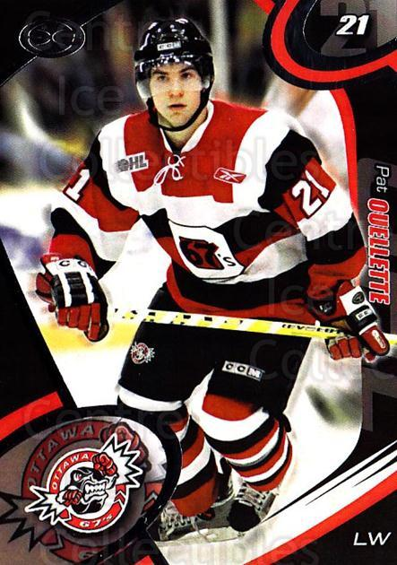 2004-05 Ottawa 67's #5 Pat Ouellette<br/>2 In Stock - $3.00 each - <a href=https://centericecollectibles.foxycart.com/cart?name=2004-05%20Ottawa%2067's%20%235%20Pat%20Ouellette...&quantity_max=2&price=$3.00&code=741149 class=foxycart> Buy it now! </a>