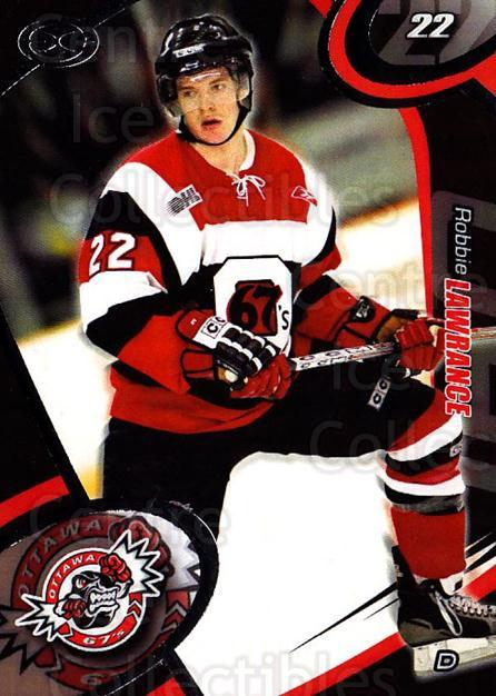 2004-05 Ottawa 67's #6 Robbie Lawrence<br/>2 In Stock - $3.00 each - <a href=https://centericecollectibles.foxycart.com/cart?name=2004-05%20Ottawa%2067's%20%236%20Robbie%20Lawrence...&quantity_max=2&price=$3.00&code=741150 class=foxycart> Buy it now! </a>