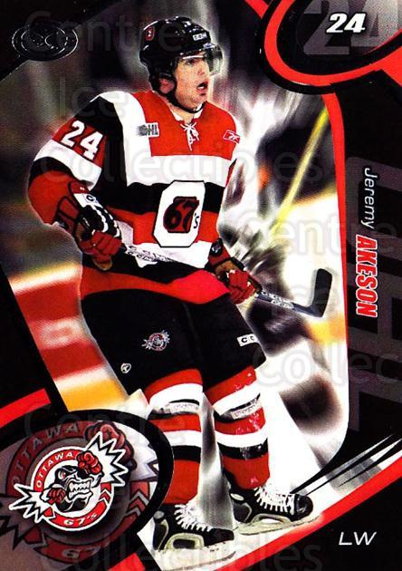 2004-05 Ottawa 67's #7 Jeremy Akeson<br/>2 In Stock - $3.00 each - <a href=https://centericecollectibles.foxycart.com/cart?name=2004-05%20Ottawa%2067's%20%237%20Jeremy%20Akeson...&quantity_max=2&price=$3.00&code=741151 class=foxycart> Buy it now! </a>