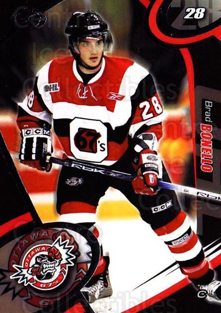 2004-05 Ottawa 67's #10 Brad Bonello<br/>2 In Stock - $3.00 each - <a href=https://centericecollectibles.foxycart.com/cart?name=2004-05%20Ottawa%2067's%20%2310%20Brad%20Bonello...&quantity_max=2&price=$3.00&code=741154 class=foxycart> Buy it now! </a>