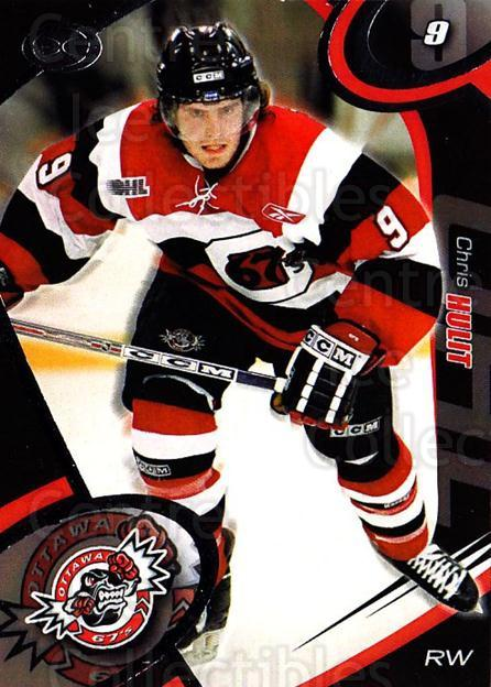 2004-05 Ottawa 67's #21 Chris Hulit<br/>2 In Stock - $3.00 each - <a href=https://centericecollectibles.foxycart.com/cart?name=2004-05%20Ottawa%2067's%20%2321%20Chris%20Hulit...&quantity_max=2&price=$3.00&code=741165 class=foxycart> Buy it now! </a>