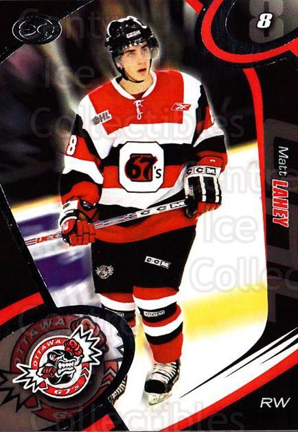 2004-05 Ottawa 67's #23 Matt Lahey<br/>2 In Stock - $3.00 each - <a href=https://centericecollectibles.foxycart.com/cart?name=2004-05%20Ottawa%2067's%20%2323%20Matt%20Lahey...&quantity_max=2&price=$3.00&code=741167 class=foxycart> Buy it now! </a>