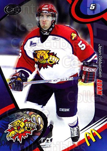 2004-05 Moncton Wildcats #11 Jean-Sebastien Adam<br/>1 In Stock - $3.00 each - <a href=https://centericecollectibles.foxycart.com/cart?name=2004-05%20Moncton%20Wildcats%20%2311%20Jean-Sebastien%20...&quantity_max=1&price=$3.00&code=741230 class=foxycart> Buy it now! </a>