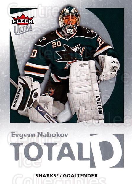 2008-09 Ultra Total D #19 Evgeni Nabokov<br/>1 In Stock - $3.00 each - <a href=https://centericecollectibles.foxycart.com/cart?name=2008-09%20Ultra%20Total%20D%20%2319%20Evgeni%20Nabokov...&quantity_max=1&price=$3.00&code=741812 class=foxycart> Buy it now! </a>