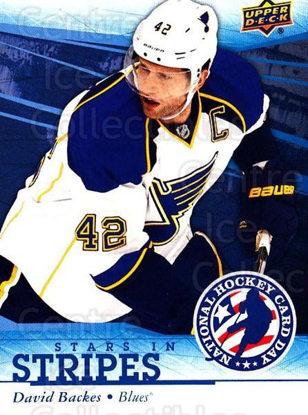 2014 Upper Deck National Hockey Card Day USA #11 David Backes<br/>1 In Stock - $2.00 each - <a href=https://centericecollectibles.foxycart.com/cart?name=2014%20Upper%20Deck%20National%20Hockey%20Card%20Day%20USA%20%2311%20David%20Backes...&quantity_max=1&price=$2.00&code=741825 class=foxycart> Buy it now! </a>