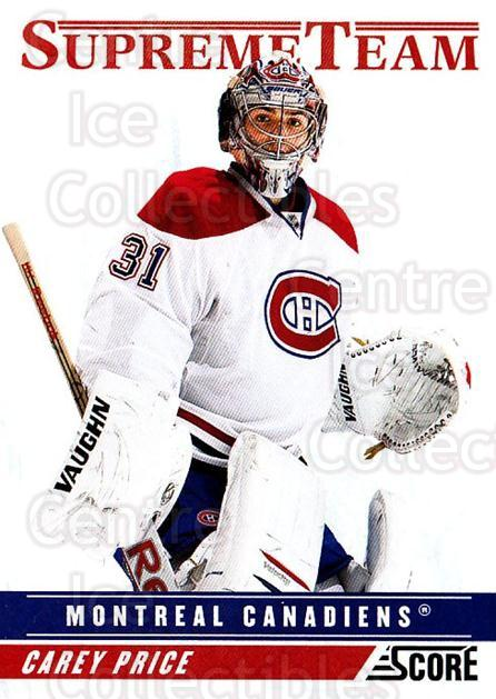 2011-12 Score Supreme Team #20 Carey Price<br/>1 In Stock - $10.00 each - <a href=https://centericecollectibles.foxycart.com/cart?name=2011-12%20Score%20Supreme%20Team%20%2320%20Carey%20Price...&quantity_max=1&price=$10.00&code=741856 class=foxycart> Buy it now! </a>