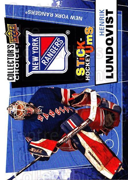 2008-09 Collectors Choice Stick Ums #6 Henrik Lundqvist<br/>1 In Stock - $3.00 each - <a href=https://centericecollectibles.foxycart.com/cart?name=2008-09%20Collectors%20Choice%20Stick%20Ums%20%236%20Henrik%20Lundqvis...&quantity_max=1&price=$3.00&code=741862 class=foxycart> Buy it now! </a>