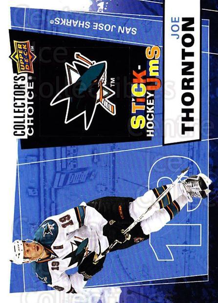 2008-09 Collectors Choice Stick Ums #12 Joe Thornton<br/>1 In Stock - $2.00 each - <a href=https://centericecollectibles.foxycart.com/cart?name=2008-09%20Collectors%20Choice%20Stick%20Ums%20%2312%20Joe%20Thornton...&quantity_max=1&price=$2.00&code=741868 class=foxycart> Buy it now! </a>