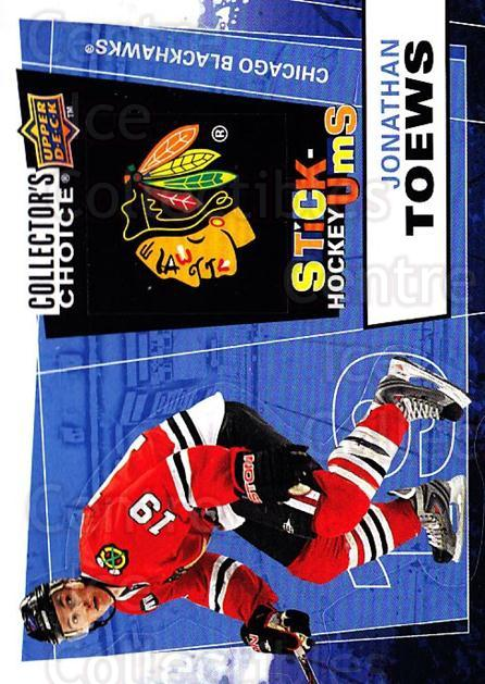 2008-09 Collectors Choice Stick Ums #13 Jonathan Toews<br/>1 In Stock - $3.00 each - <a href=https://centericecollectibles.foxycart.com/cart?name=2008-09%20Collectors%20Choice%20Stick%20Ums%20%2313%20Jonathan%20Toews...&quantity_max=1&price=$3.00&code=741869 class=foxycart> Buy it now! </a>